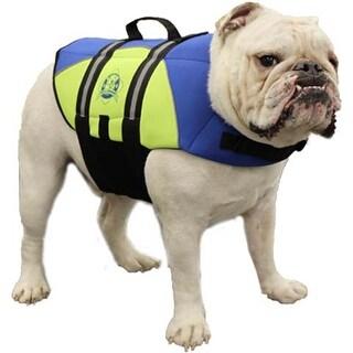 Paws Aboard Neoprene Doggy Life Jacket Medium-Blue & Yellow