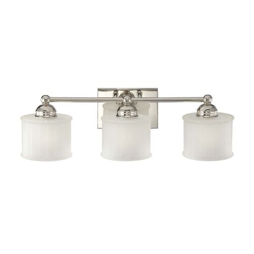 Minka Lavery 6733 1 3 Light Bathroom Vanity Light With Etched Shade From  The 1730