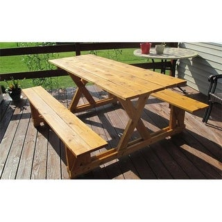 Infinite Cedar EZ-Access Cedar Picnic Table, Wood