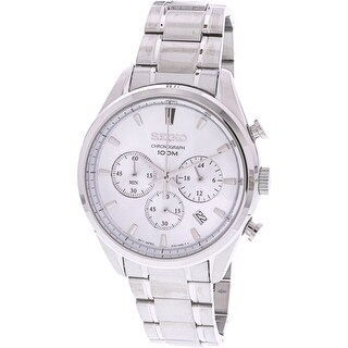 Seiko Men's Chronograph SSB221 Silver Stainless-Steel Diving Watch