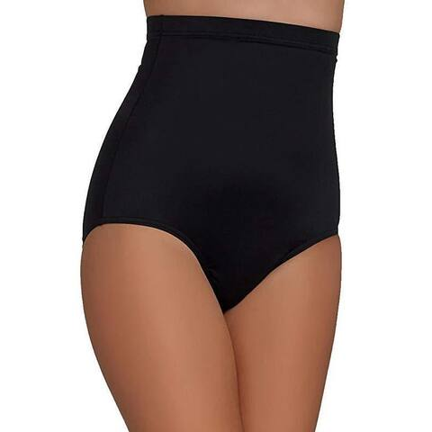 Magicsuit Women's Magic Solids High Waist Bikini Bottom Black Sz 14