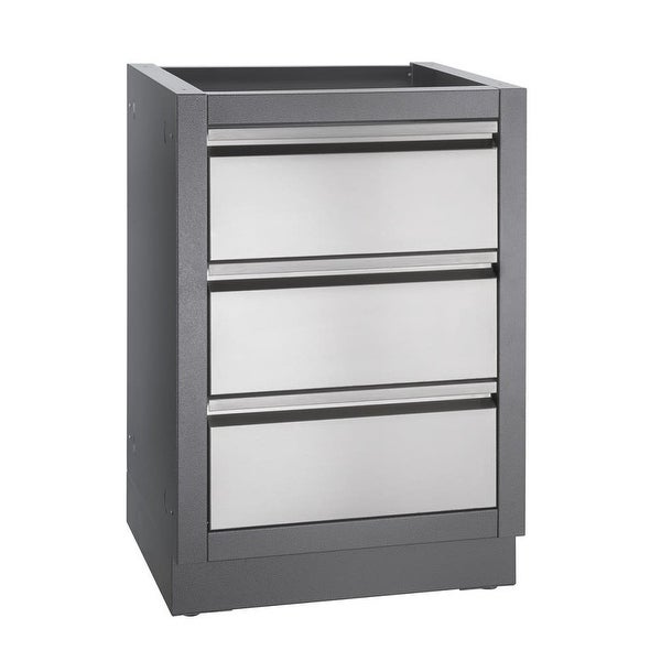 Napoleon Im C 24 Inch Wide Modular Island Three Drawer Cabinet From The Oasis Carbon Free Shipping Today 27159357