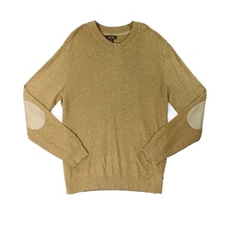 Tasso Elba NEW Praline Brown Mens Size 2XL Heather V-Neck Sweater