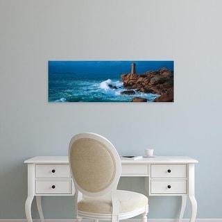 Easy Art Prints Panoramic Images's 'Lighthouse at a coast, Ploumanach Lighthouse, Cote De Granit Rose, Cotes