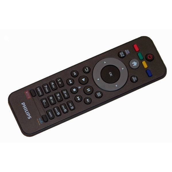 OEM Philips Remote Control Originally Shipped With: BDP2100, BDP2100/F7,  BDP2100F7, BDP2105, BDP2105/F7, BDP2105F7