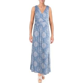 Design History Womens Jersey Side Slit Maxi Dress