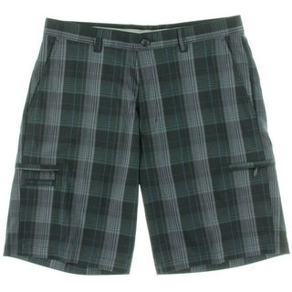 Greg Norman Mens Moisture Wicking Plaid Casual Shorts - 34