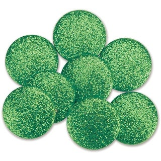 Dress It Up Big Glitter Dots 19mm 8/Pkg-Emerald Green - Emerald Green