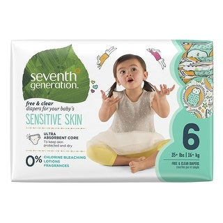 Seventh Generation Baby Diapers, Stage 6, 35+# - (Case of 4 - 20 ct)