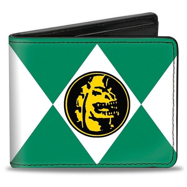 Diamond Green Ranger Dragon Power Logo Bi Fold Wallet - One Size Fits most