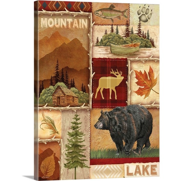 """Lodge Collage I"" Canvas Wall Art"