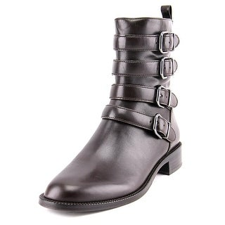 Via Spiga Bara Women  Round Toe Leather Brown Ankle Boot