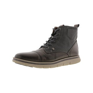 Tommy Hilfiger Mens Ferguson Ankle Boots Canvas Faux Leather - 8 medium (d)