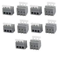 10pcs KF242V 300V 15A 5.0mm Pitch 3P Spring Terminal Block for PCB Mounting