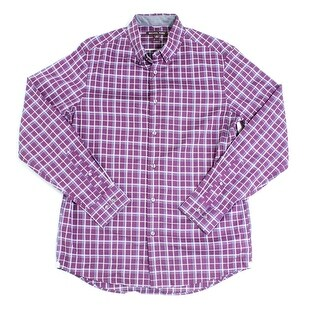 Michael Kors NEW Purple Mens Size Medium M Button Down Plaid Shirt