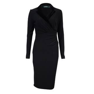 Lauren Ralph Lauren Women's Velvet Collar Jersey Dress - Black|https://ak1.ostkcdn.com/images/products/is/images/direct/cd2195182bf174b6575b5172969b158b7c4cc80d/Lauren-Ralph-Lauren-Women%27s-Velvet-Collar-Jersey-Dress.jpg?impolicy=medium