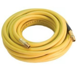 """Forney 75411 PVC Air Hose With Couplers, 1/4"""" x 3/8"""" x 50', Yellow"""