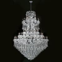 "Worldwide Lighting W83069C72 Maria Theresa 84 Light 5 Tier 54"" Chrome Chandelier"
