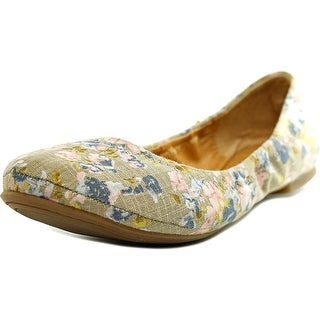 Lucky Brand Emmie Women W Round Toe Canvas Multi Color Ballet Flats