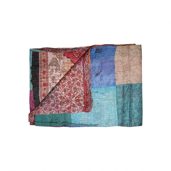 """HomeRoots 60"""" x 90"""" Multicolor/Silk - Throw. Opens flyout."""