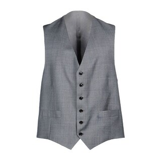 Hardy Amies London Wool Vest 42 Regular 42R Light Grey Button Front