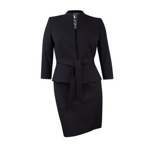 """Tahari Women's Petite Belted """"Lucy"""" Skirt Suit