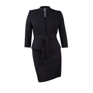 "Tahari Women's Petite Belted ""Lucy"" Skirt Suit"