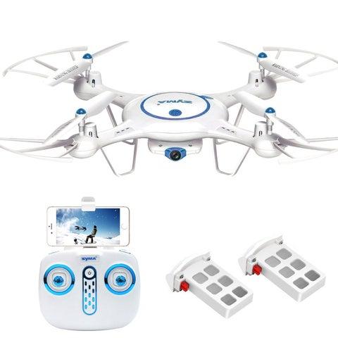 Syma X5UW Wifi FPV Drone with 720P HD Camera Extra Battery - N/A