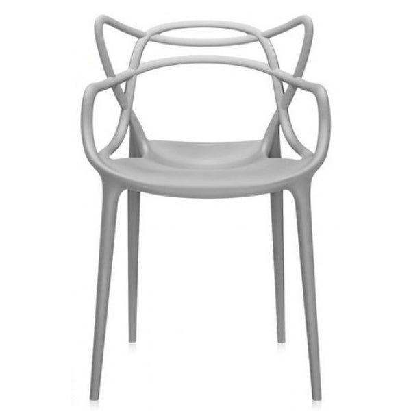 2xhome   Dining Room Chair   Grey   Modern Contemporary Designer Arm Chair  Modern Stacking Dining