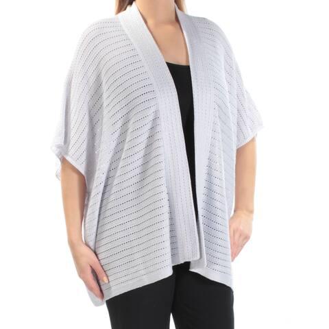 Ralph Lauren Womens Silver Kimono Sleeve Open Top Size: L