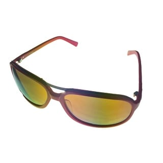 Umbro Sunglass Red, Solid Smoke Lens Plastic Sport Aviator US20 - Medium