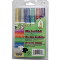 DecoFabric Markers 3mm 6/Pkg-Glitter