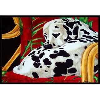 Carolines Treasures AMB1118MAT Sunday Nap Dalmatian Indoor or Outdoor Mat 18 x 27