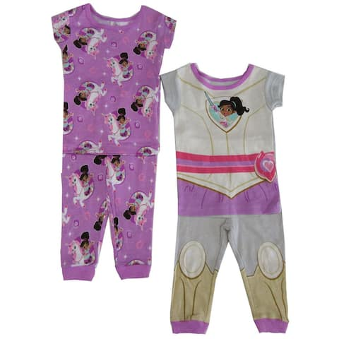 """Nickelodeon Baby Girls Purple """"Princess Knight"""" 2 pair 2pc Pajama set"""