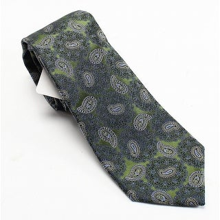 ENRO NEW Green Paisley Floral Pattern Men's Silk Woven Classic Neck Tie
