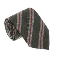Missoni U5145 Sage/Orange Regimental 100% Silk Tie