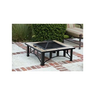 Fire Sense 60243 HotSpot Tuscan Tile Mission Style Square Fire Pit - Steel - N/A
