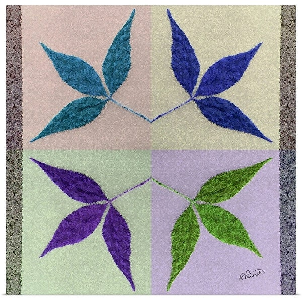 """""""Four Crystal Leaves"""" Poster Print"""