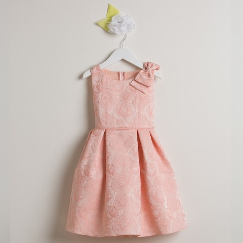 0e751cb39c Sweet Kids Little Girls Pink Rose Shoulder Bow Easter Special Occasion Dress  2-6