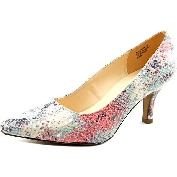 Karen Scott Clancy Women Pointed Toe Synthetic Pink Heels