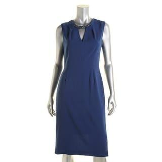 BCBG Max Azria Womens Embellished Sleeveless Wear to Work Dress