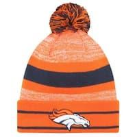 1d08f5d6 New Era 2019 NFL Denver Broncos Cuff Pom Knit Hat Beanie Stocking Winter  Skull