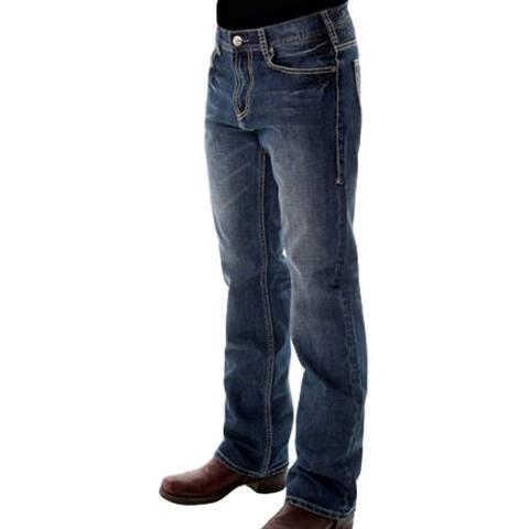 B. Tuff Western Denim Jeans Mens HOOAH Barbed Wire Medium Wash