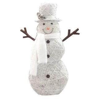 "Celebrations 50511-71 Snowman LED Yard Art, Wood/Fabric, 48"""