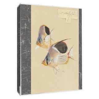 """PTM Images 9-154988  PTM Canvas Collection 10"""" x 8"""" - """"Butterfly Fish"""" Giclee Fishes Art Print on Canvas"""