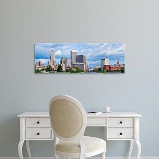 Easy Art Prints Panoramic Images's 'Buildings in a city, Providence River, Providence, Rhode Island, USA' Canvas Art