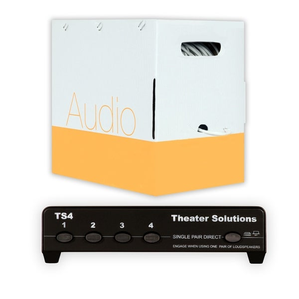 Theater Solutions TS4 Four Zone Speaker Selector Box and 500' of C500-16-4 Wire