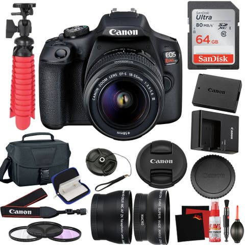 Canon EOS Rebel T7 DSLR Camera 18-55mm Lens and 64GB Memory Card,
