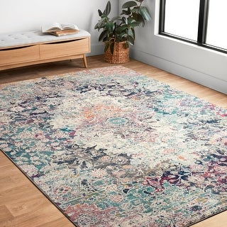 Link to Alexander Home Malik Boho Medallion Distressed Rug Similar Items in Rugs
