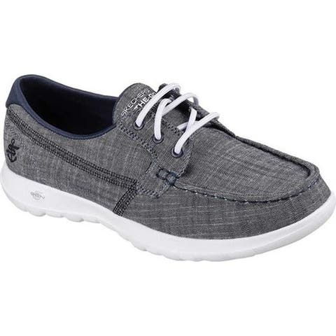 Skechers Women's GOwalk Lite Isla Boat Shoe Navy